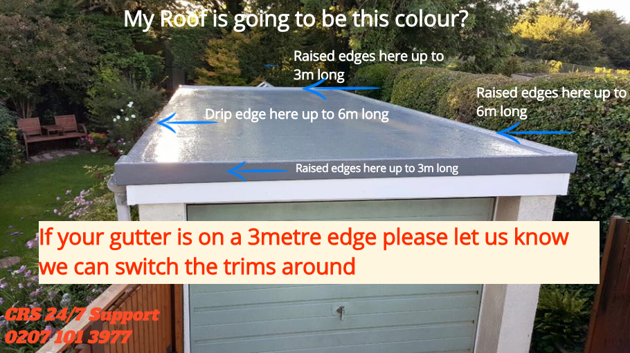 single garage grp roofing kit inc tools trims included 20m2 ebay. Black Bedroom Furniture Sets. Home Design Ideas