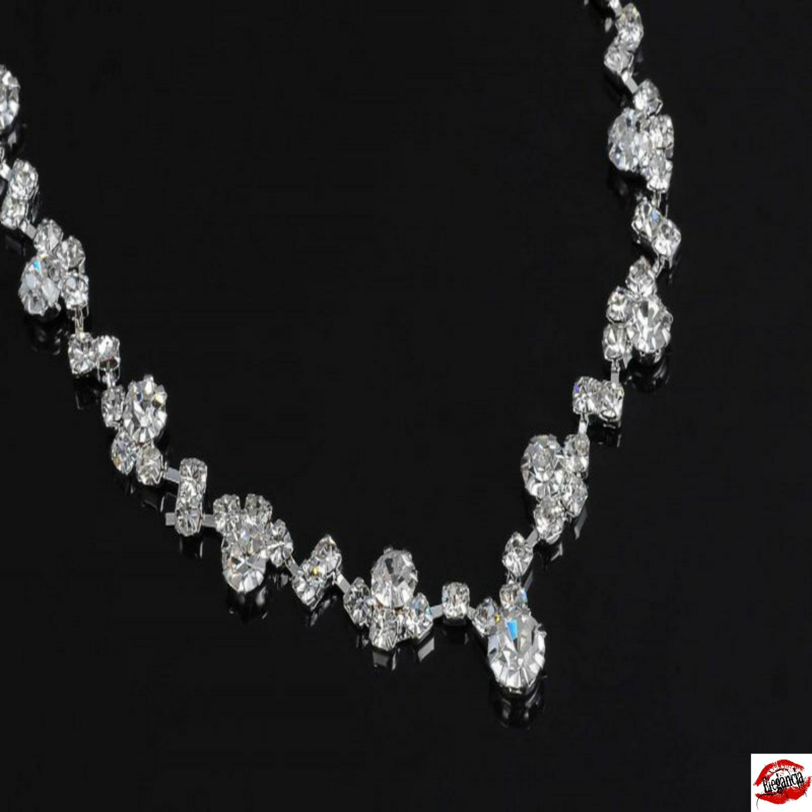 Bridal wedding party jewelry set crystal rhinestone for Bridesmaid jewelry sets under 20