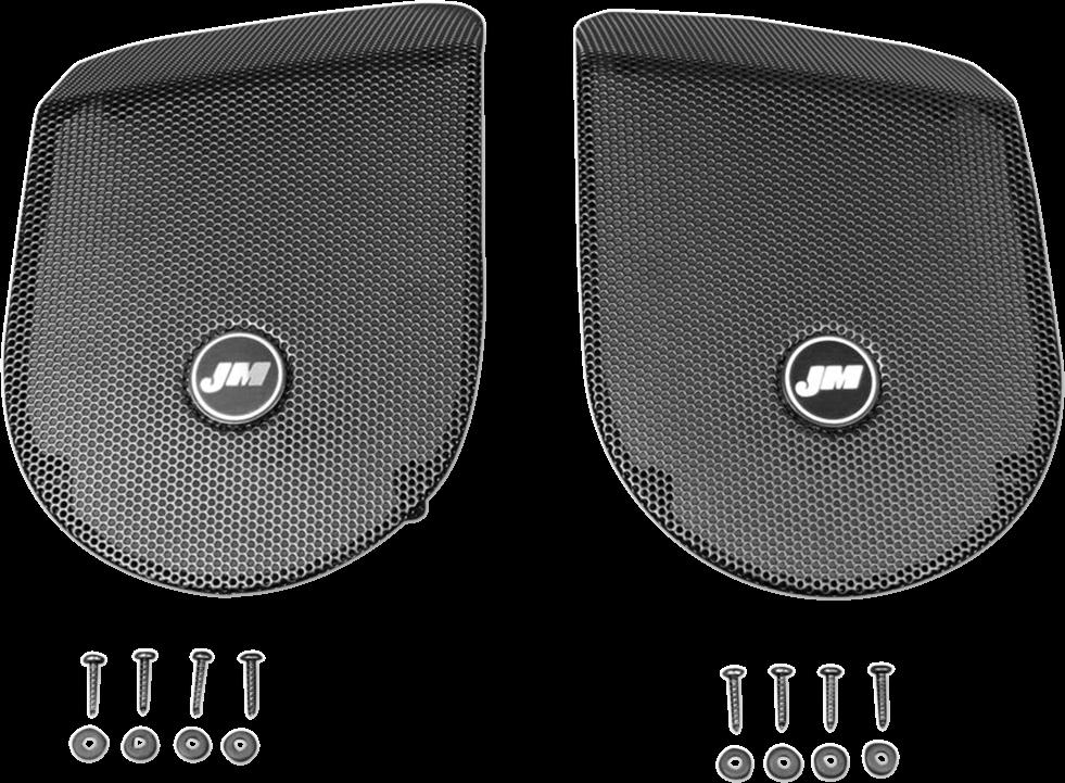 J & M HGRL-SD06 Saddlebag Lid Speaker Grill Sets