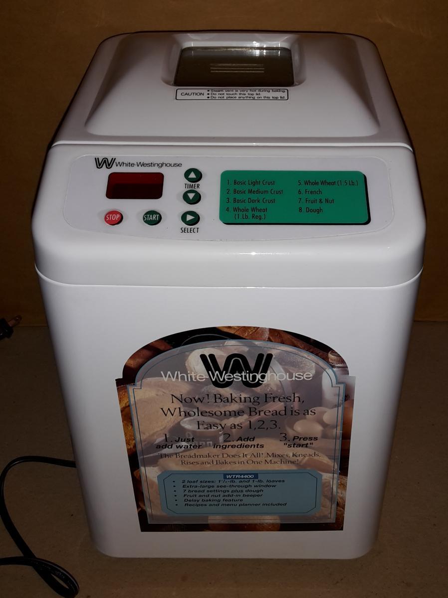 westinghouse bread machine