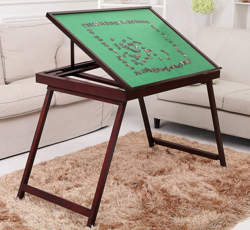 Jigsaw Puzzle Storage Table Tilting Portable Board Folding
