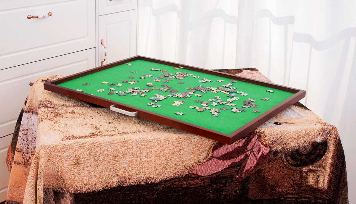 Jigsaw Puzzle Table Storage Spinning Turn Spinner Board