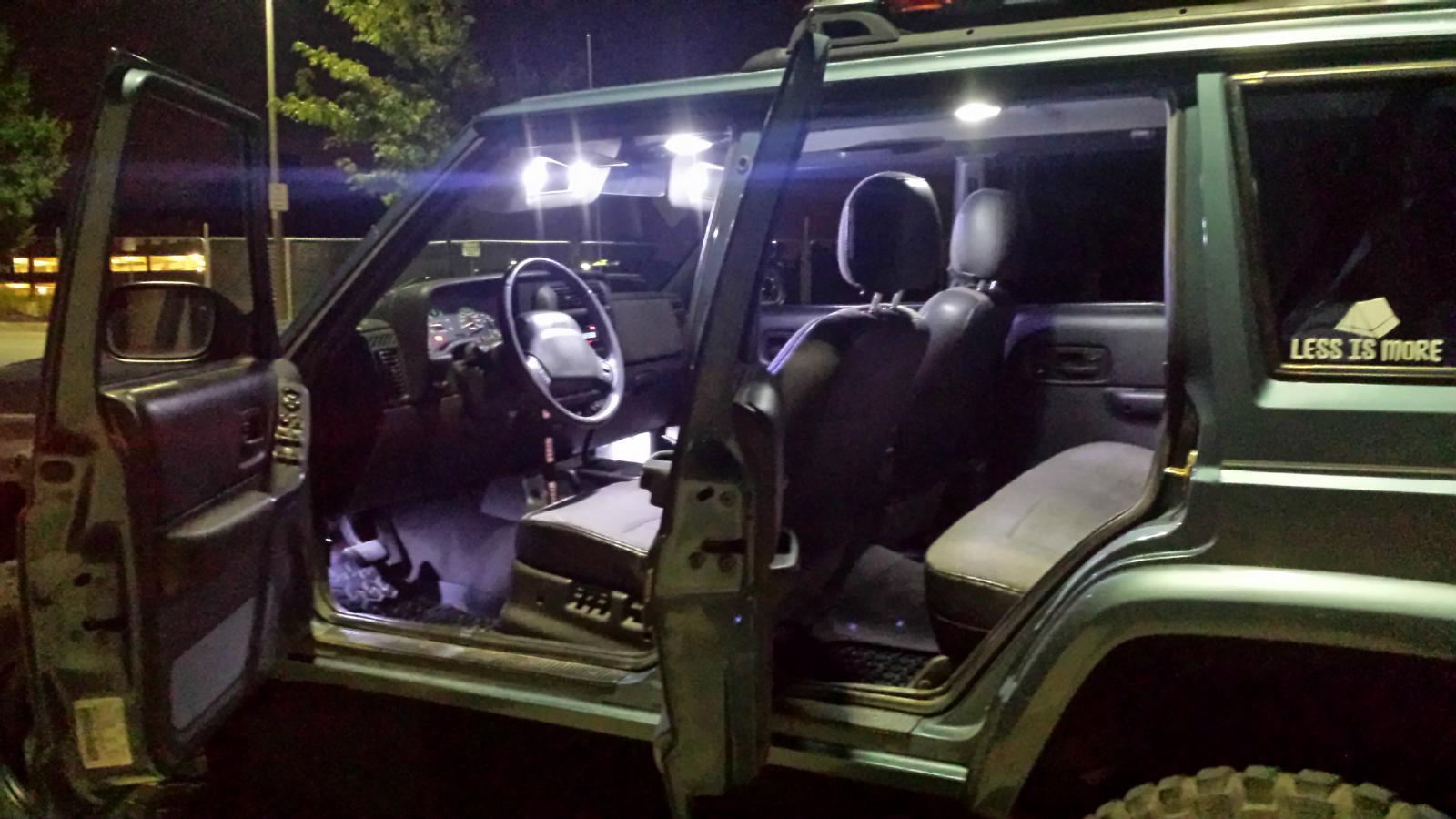 1997 2001 Jeep Cherokee Xj Led Interior Led Set White W Dome Lamp Ebay