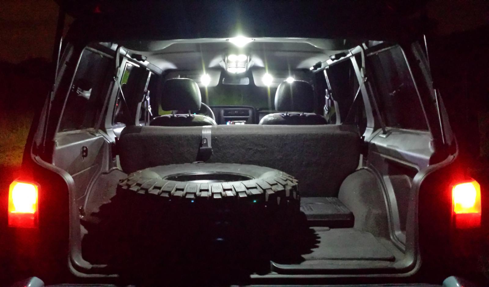 1997 2001 Jeep Cherokee Xj Interior Led Light Set White W Overhead Console Ebay