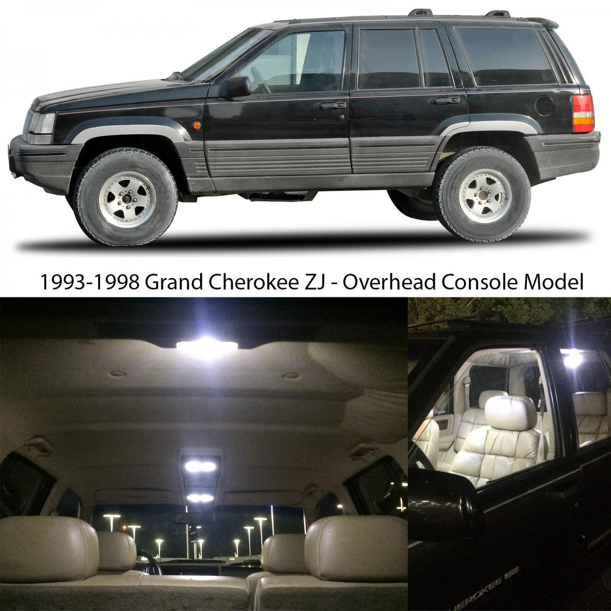Important fits models with the stock overhead console assembly 4 lamp 1993 jeep grand cherokee interior