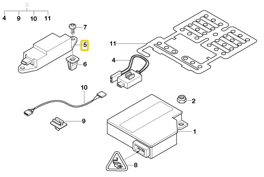 bmw e46 side airbag impact sensor oem 65776911038 6911038