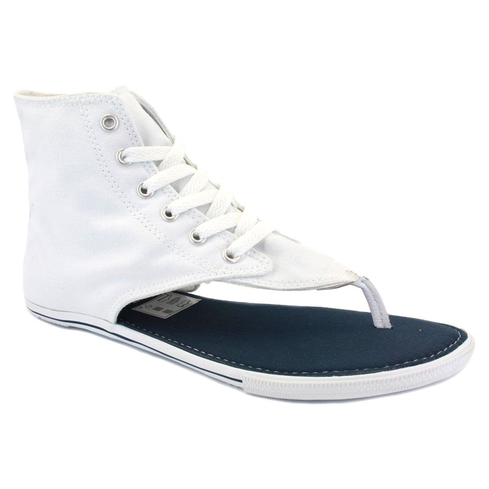 New Converse All Star Hi Top White Thong Sandals Flip -1141