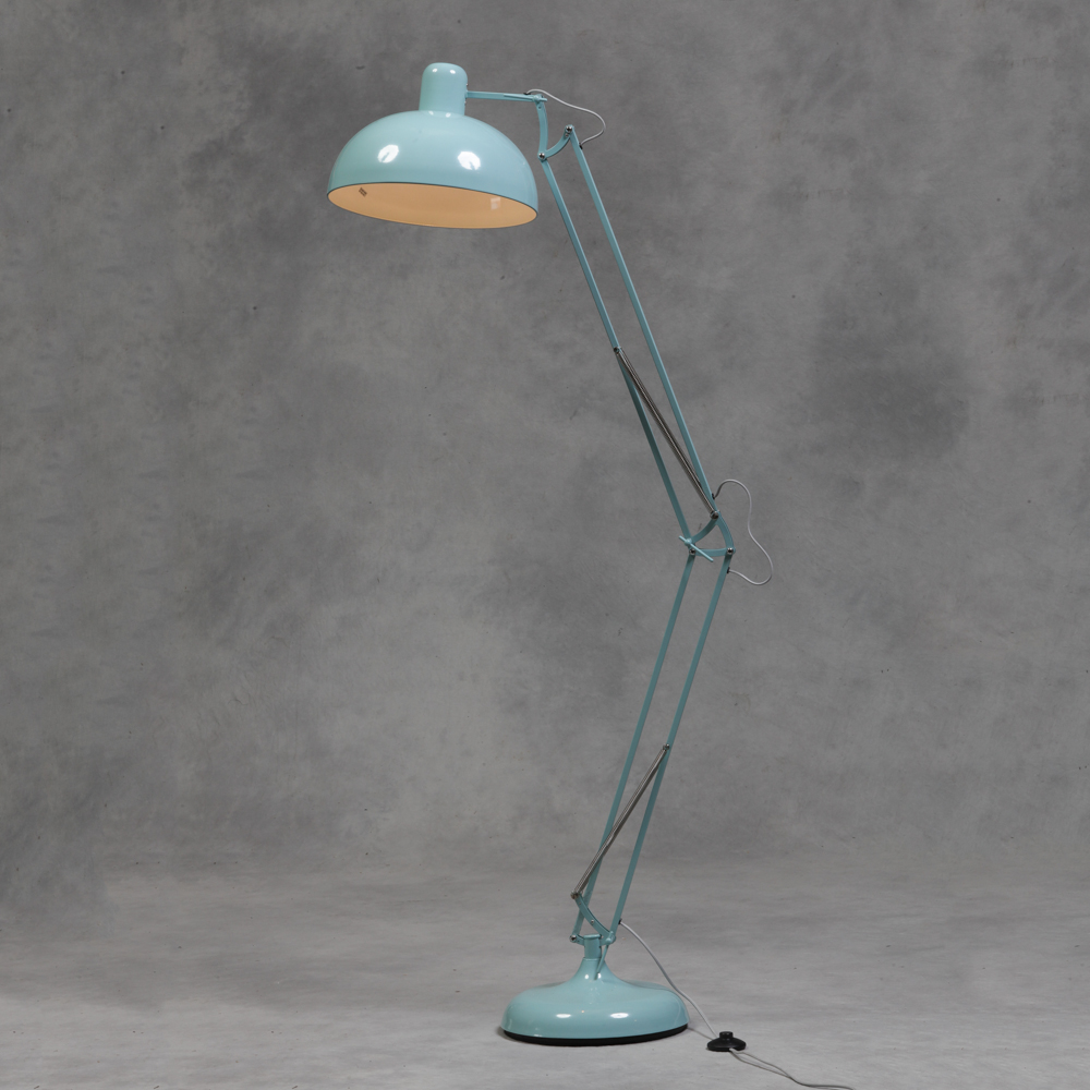 Large sky blue floor lamp retro vintage angle poise style for Giant retro floor lamp