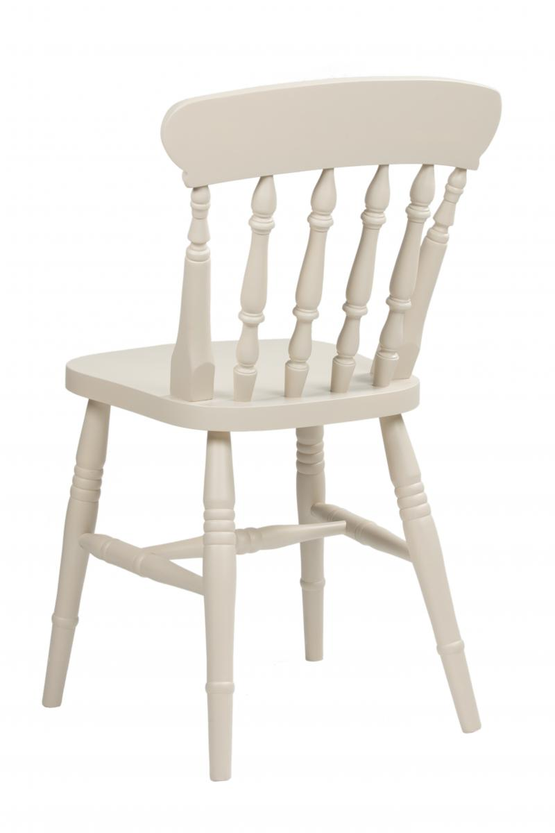 Solid Beach Dining Chair Carver Spindle Farmhouse Hardwood Pine Painted New