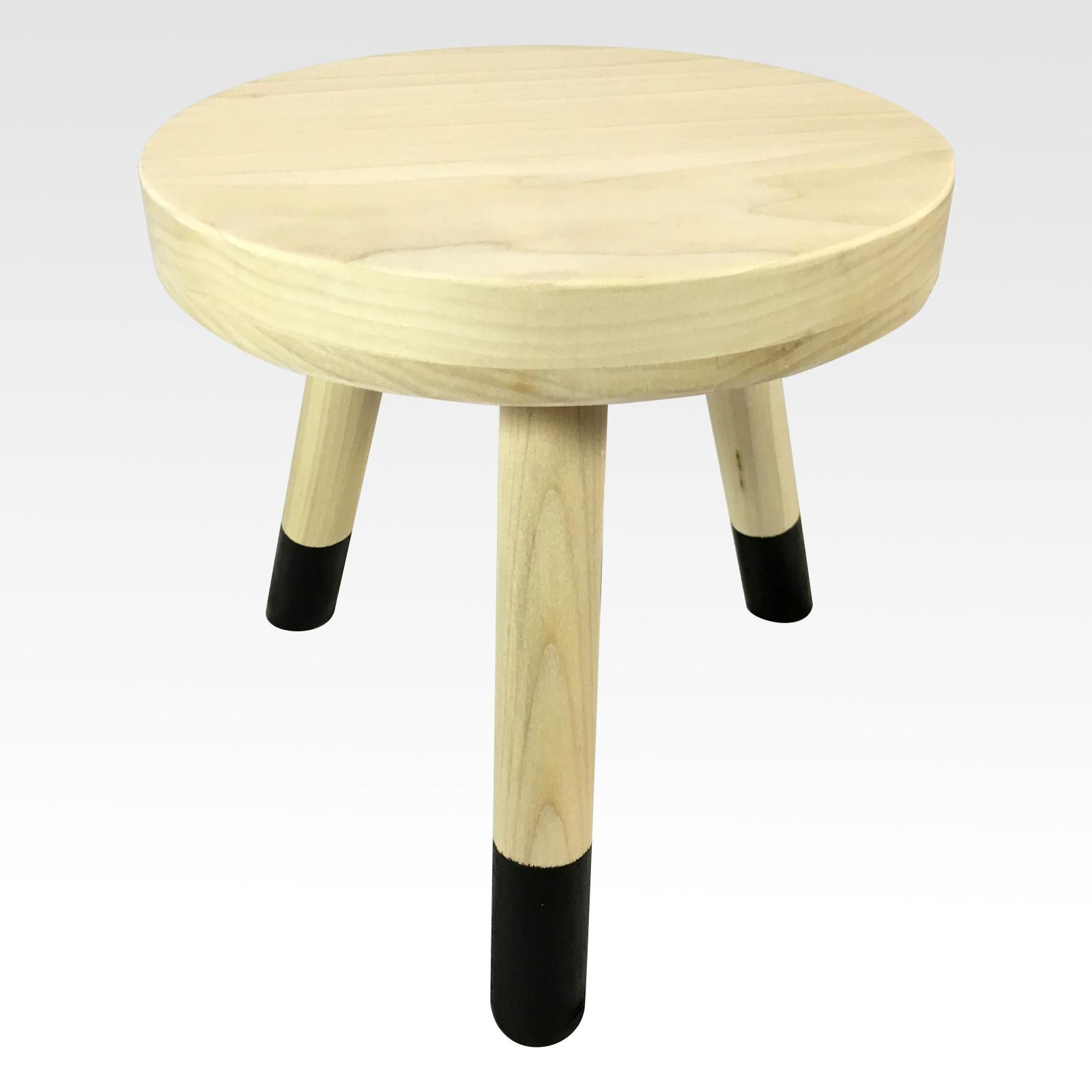 Wood Plant Stand Small Stool Tea Table Wooden Pale And