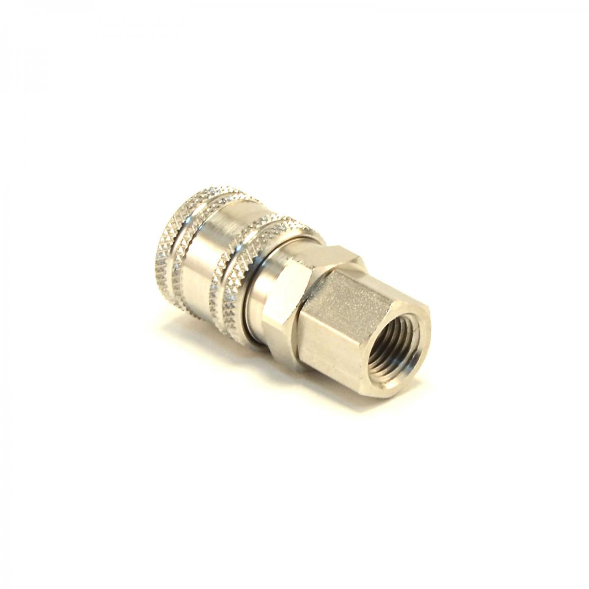 Stainless steel quick connect coupler quot female npt air