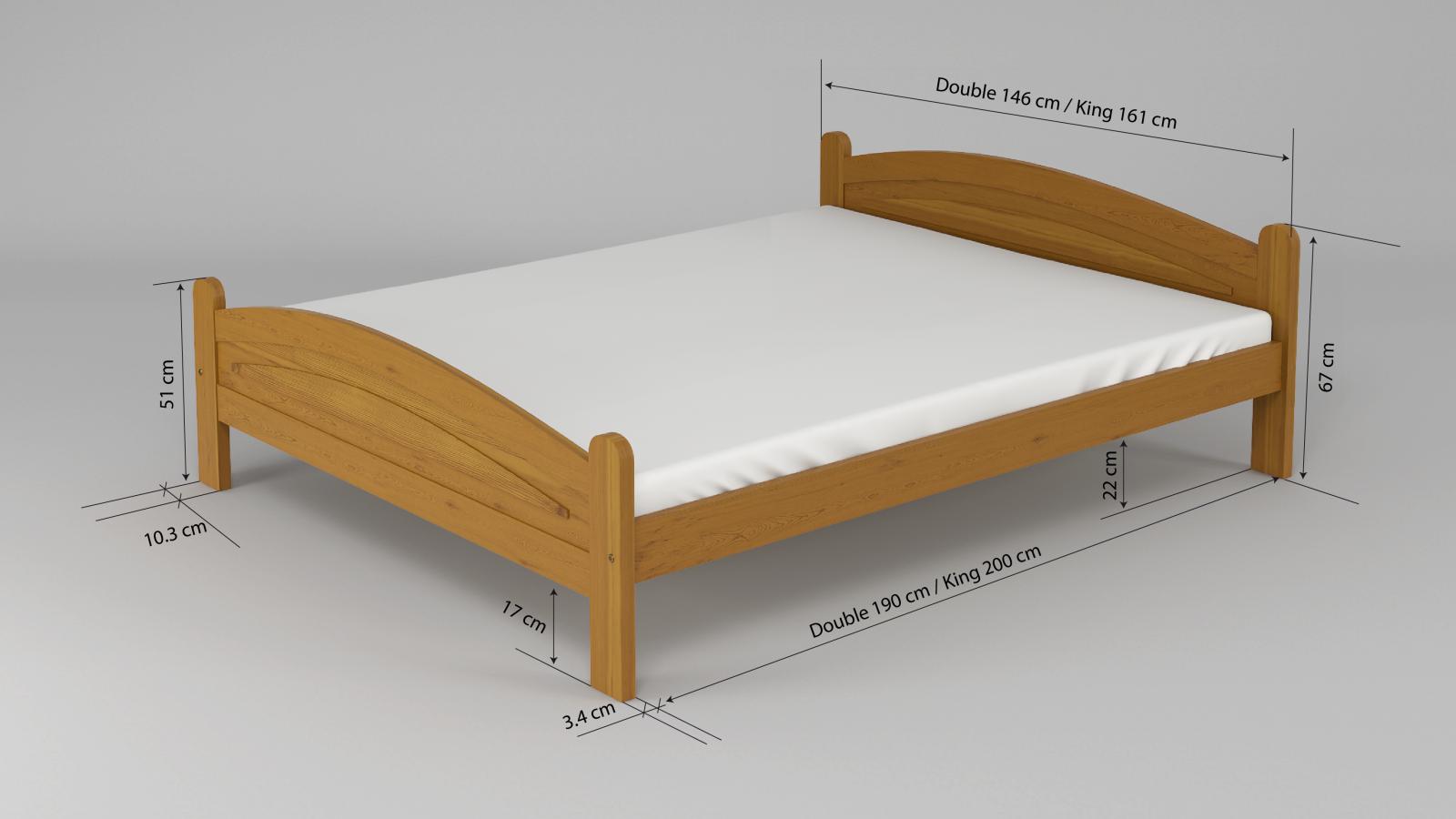 solid wooden bed frame pine wood double 4ft6 king size 5ft alder oak walnut ebay. Black Bedroom Furniture Sets. Home Design Ideas