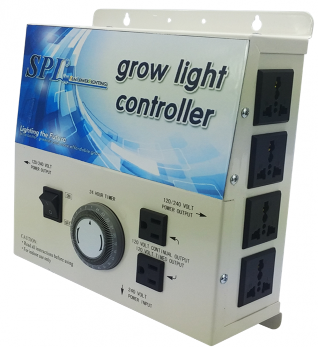 Light Controller With Timer: SPL Horticulture Grow Light Controller 4Plug 8Plug With