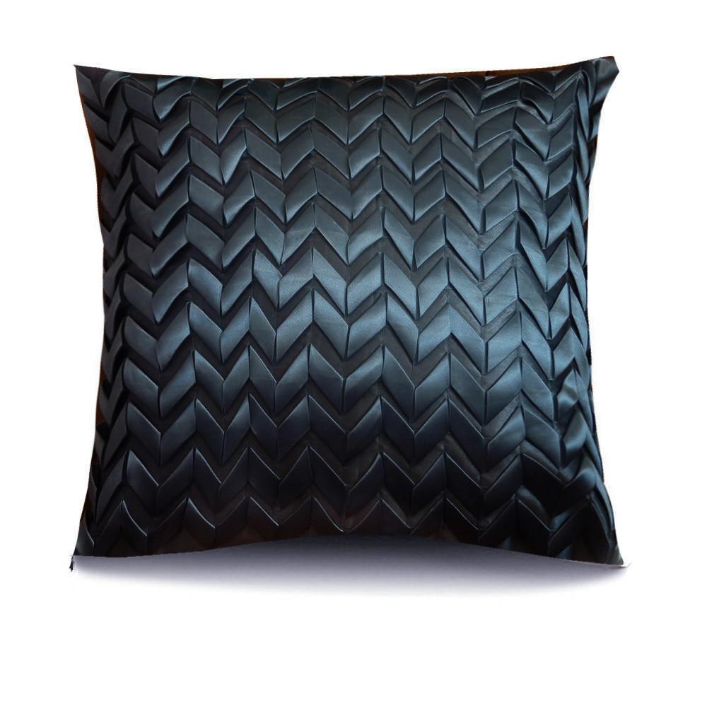 Black Cushion Cover Cushions Cushion Vintage Ribbon Suede