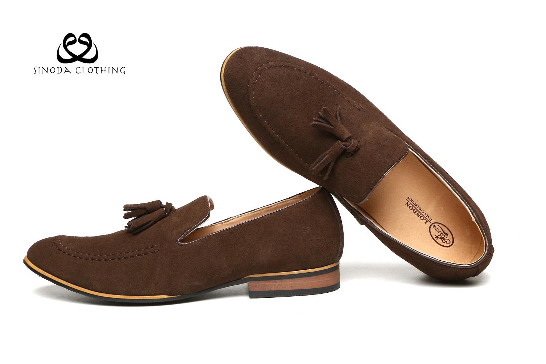 hommes cuir enfiler mocassins glands daim d contract chaussures l gantes ebay. Black Bedroom Furniture Sets. Home Design Ideas