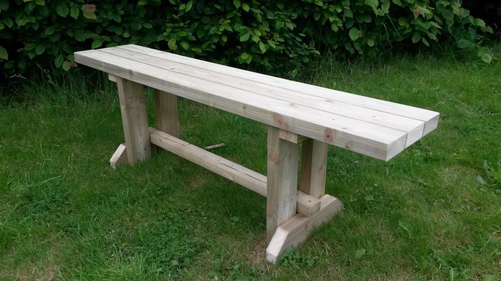 Pub Garden Wooden Bench Seat