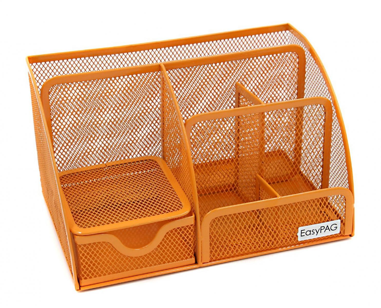 new easypag mesh metal desk organizer 6 compartment office. Black Bedroom Furniture Sets. Home Design Ideas