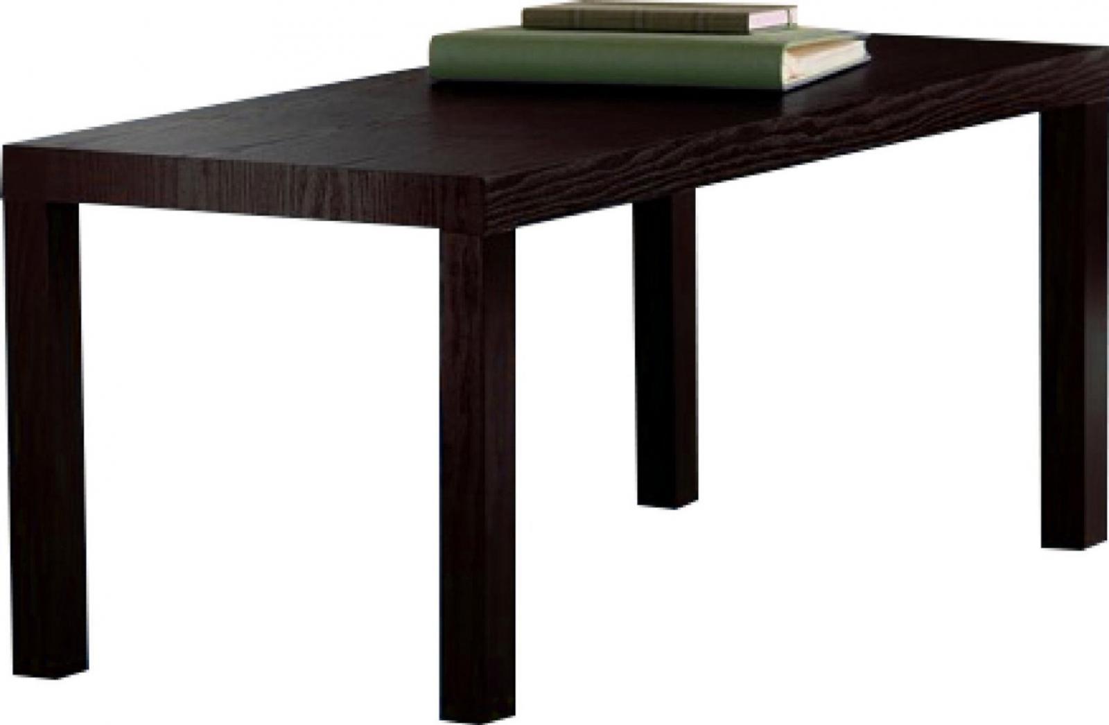 New Durable Modern Coffee Table Easy Assemble Dark Espresso Wood Grain Finish Ebay