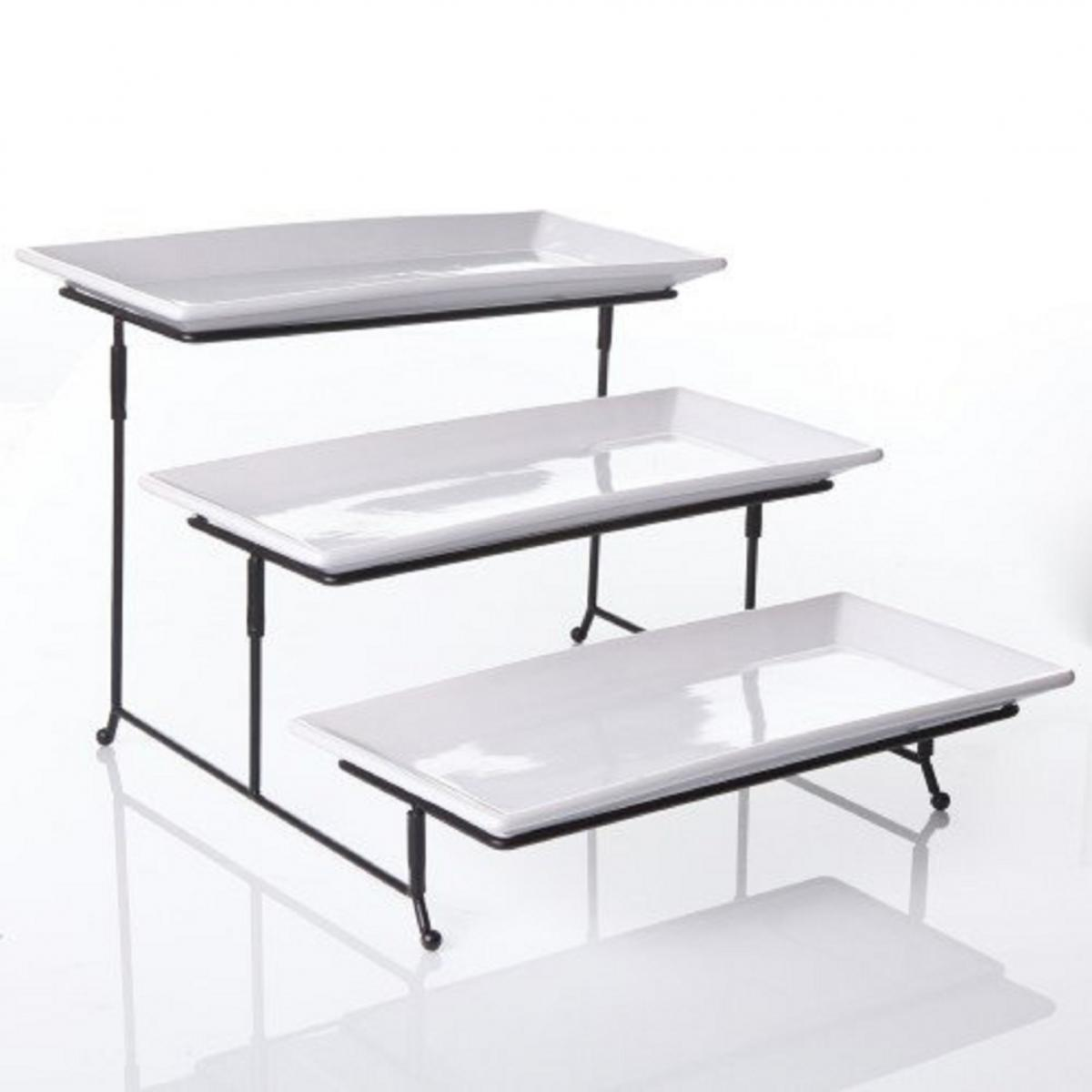 New 3 Tier Rectangular Serving Platter Cake Tray Stand
