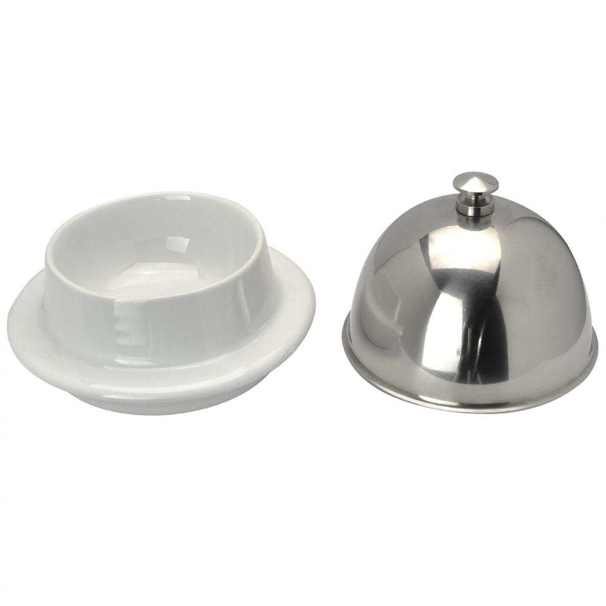 New Sleek White Ceramic Butter Dish Small Serving Tray