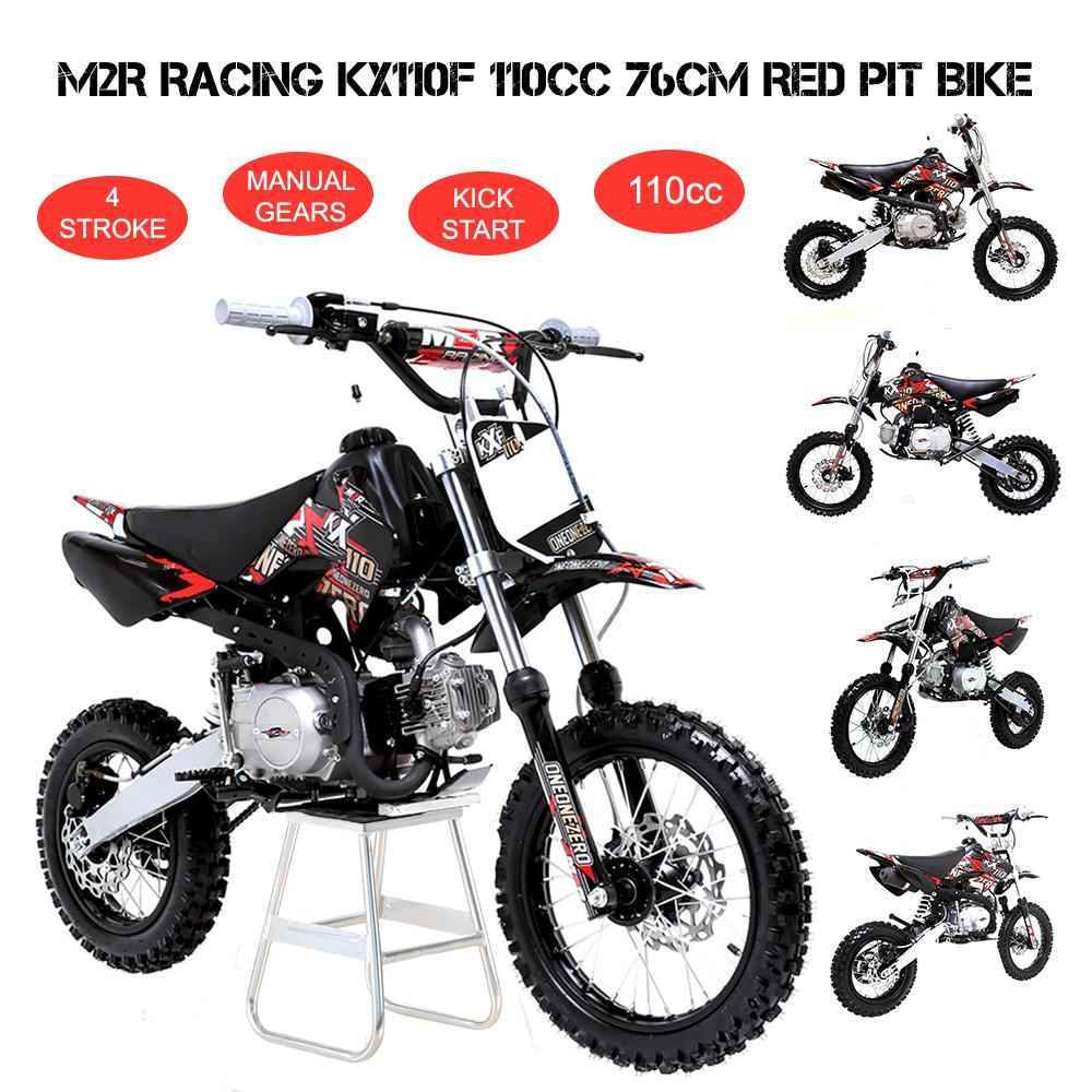 m2r racing kx110f 110cc 76cm red pit bike off road dirt 4. Black Bedroom Furniture Sets. Home Design Ideas