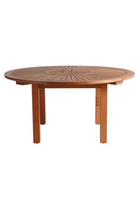 Dinning wooden round table 6 seater outdoor dining for 12 seater wooden outdoor table