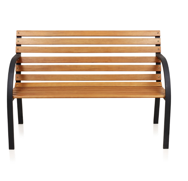 park bench strong durable metal frame fsc approved