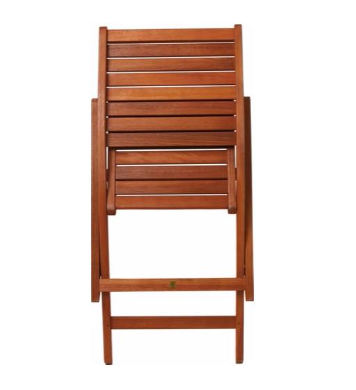 Wooden Folding Chairs Set 2 Eucalyptus Wooden Garden