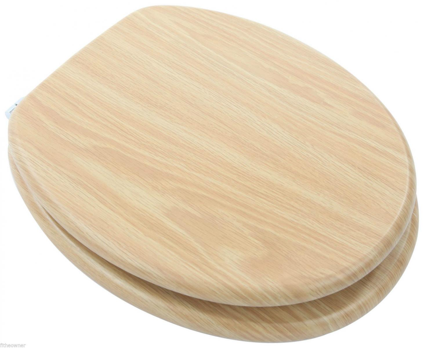 euroshowers mdf wood design toilet seat range beech walnut