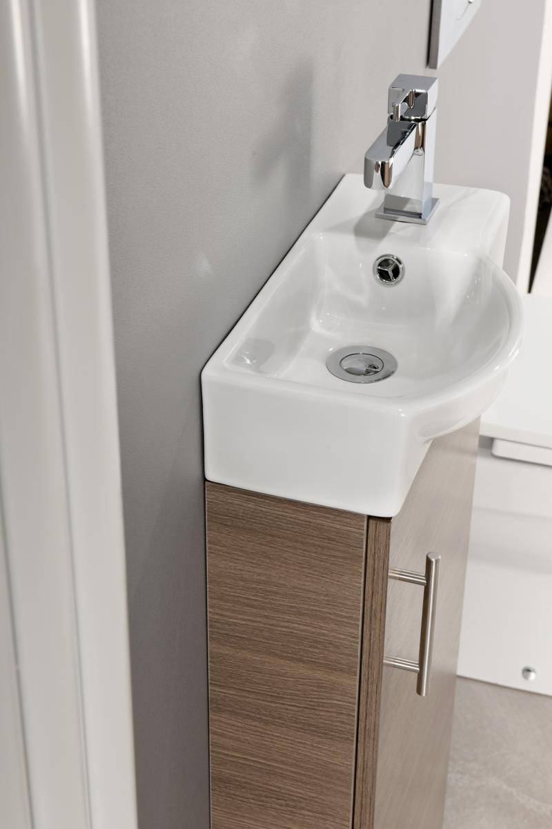 Slimline 400 Vanity Basin Sink Unit Bathroom Cloakroom
