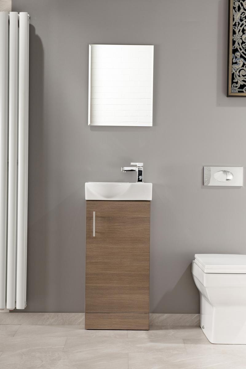 Slimline 400 Vanity Basin Sink Unit Bathroom Cloakroom
