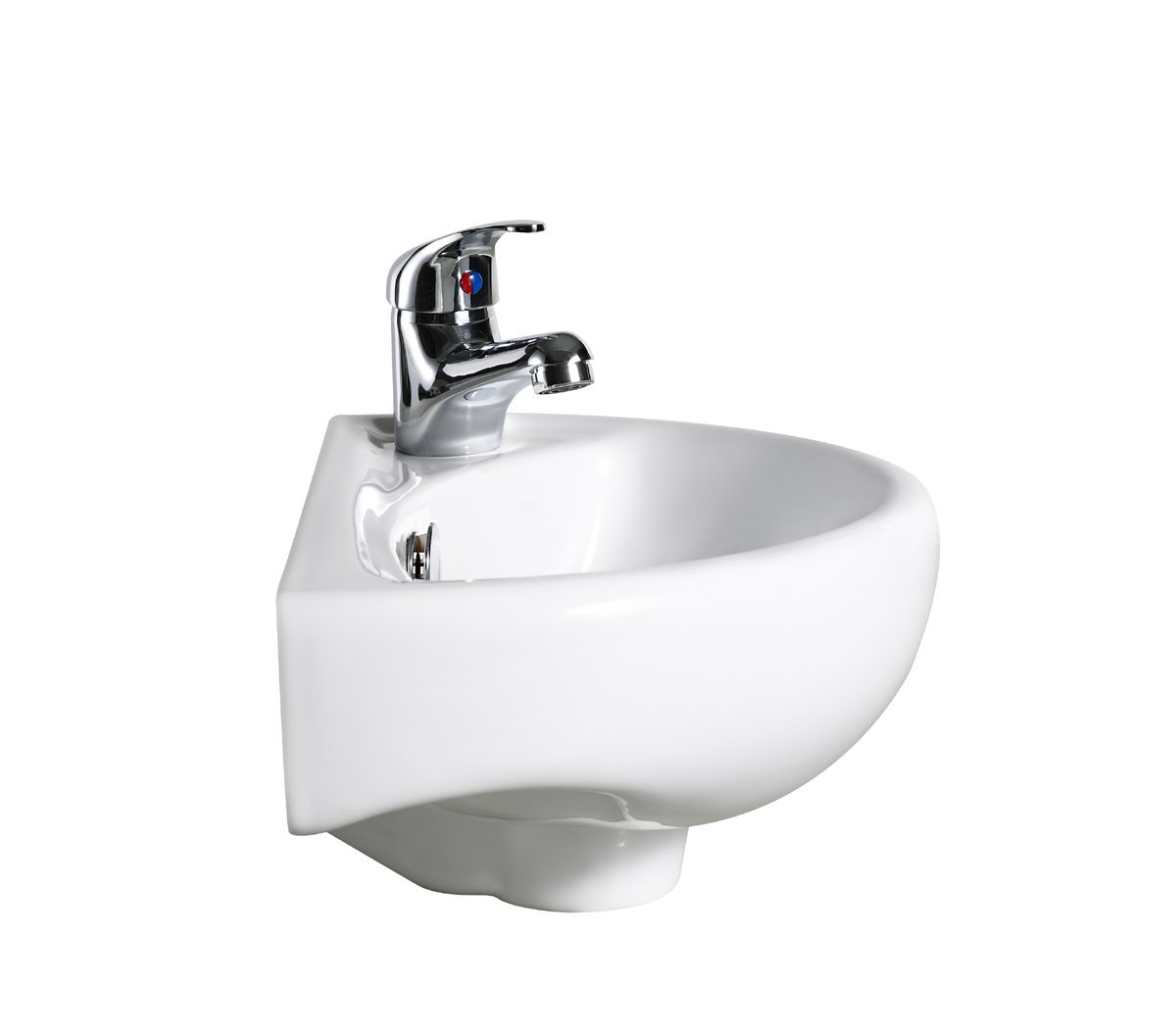 Compact Wall Hung Basin Sink Bathroom Mini Tiny Small