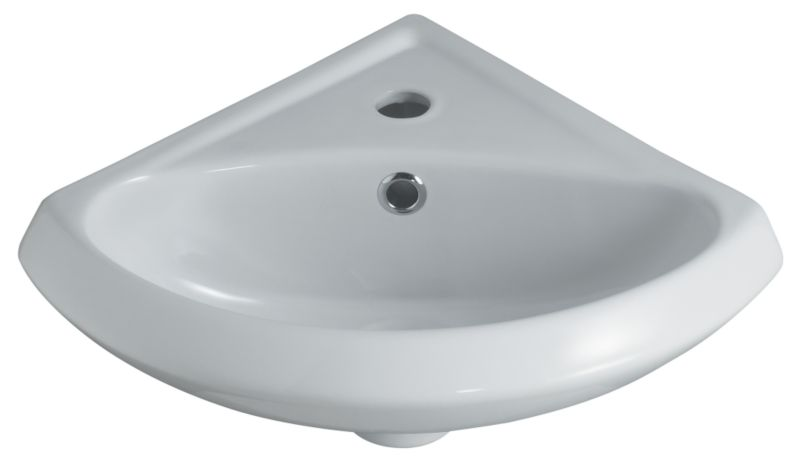 Small Corner Wash Basin : about Small Corner Wash Basin Bathroom Cloakroom Ceramic Compact Sink ...