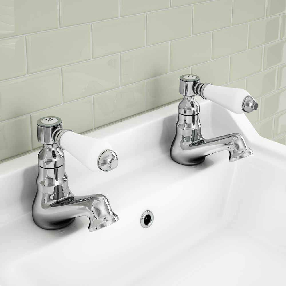 ultra traditional bloomsbury chrome bathroom lever basin 22344
