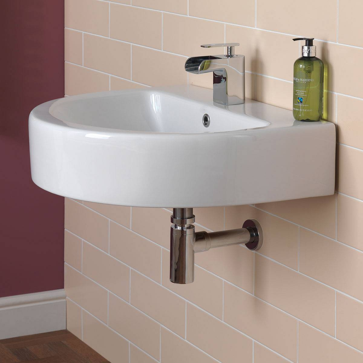Bathroom Drain Plumbing Minimalist minimalist chrome brass round bottle trap waste bathroom basin
