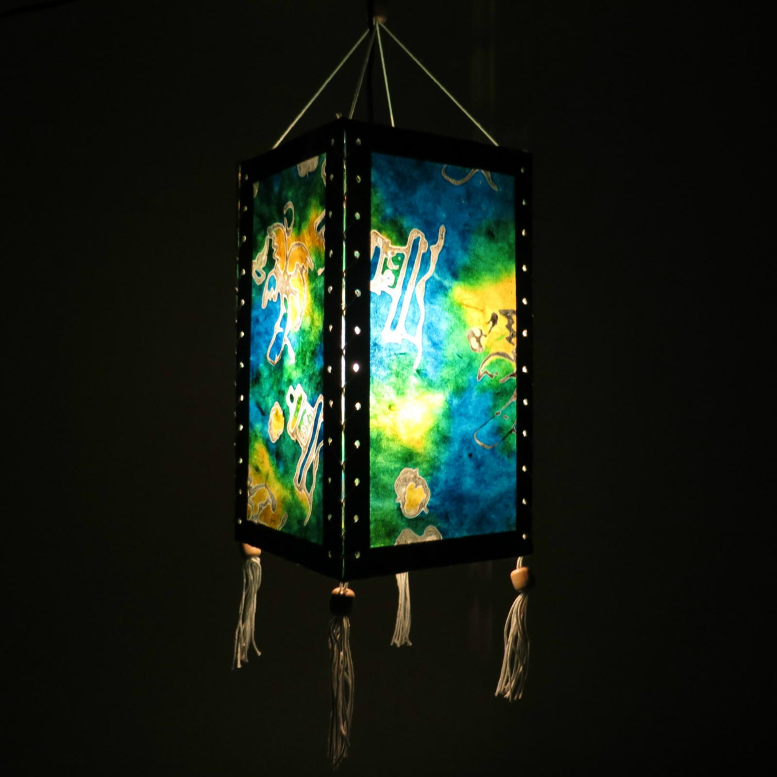 Hanging Japanese Lamp: Asian Oriental Hanging Lampshade/Lamp