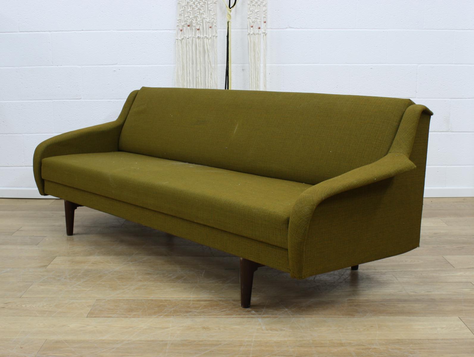Danish midcentury vintage double sofa bed retro 60s ebay for Sofa bed 60s