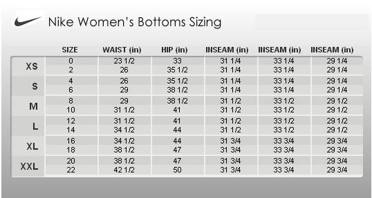 Nike pro core compression shorts size chart nike com size fit