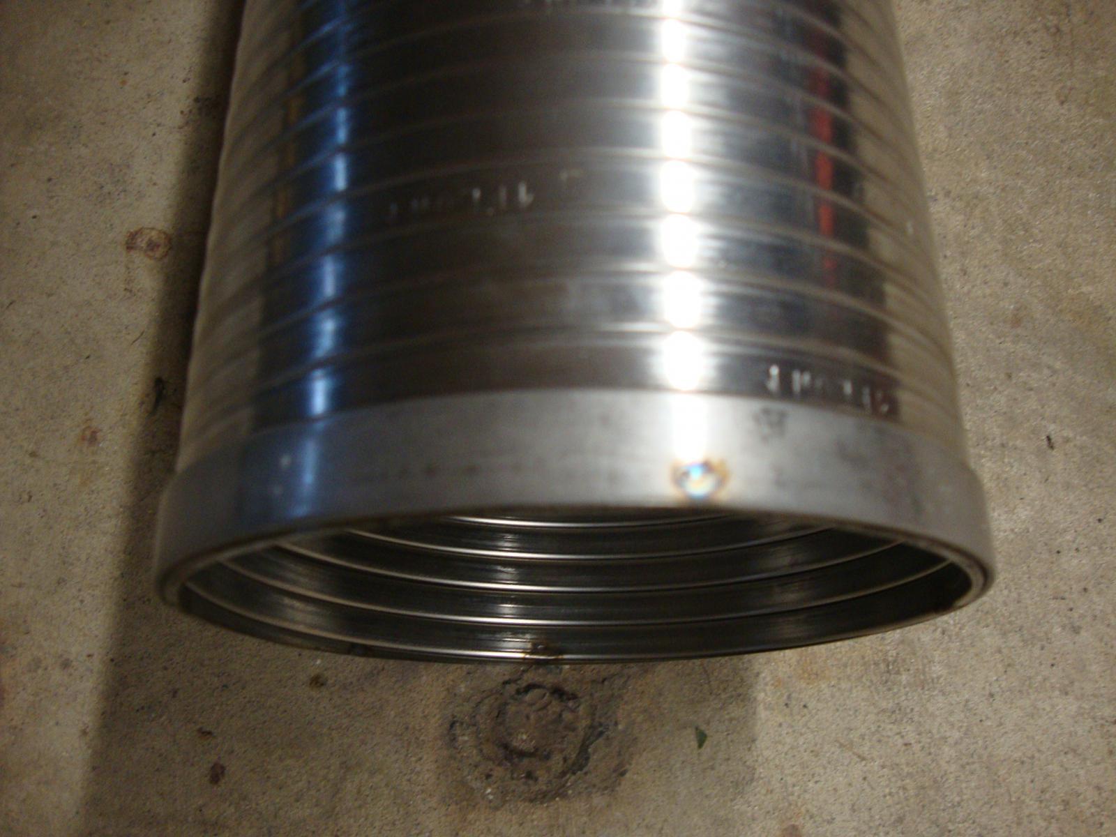 Quot stainless steel flexible exhaust tubing diameter ebay