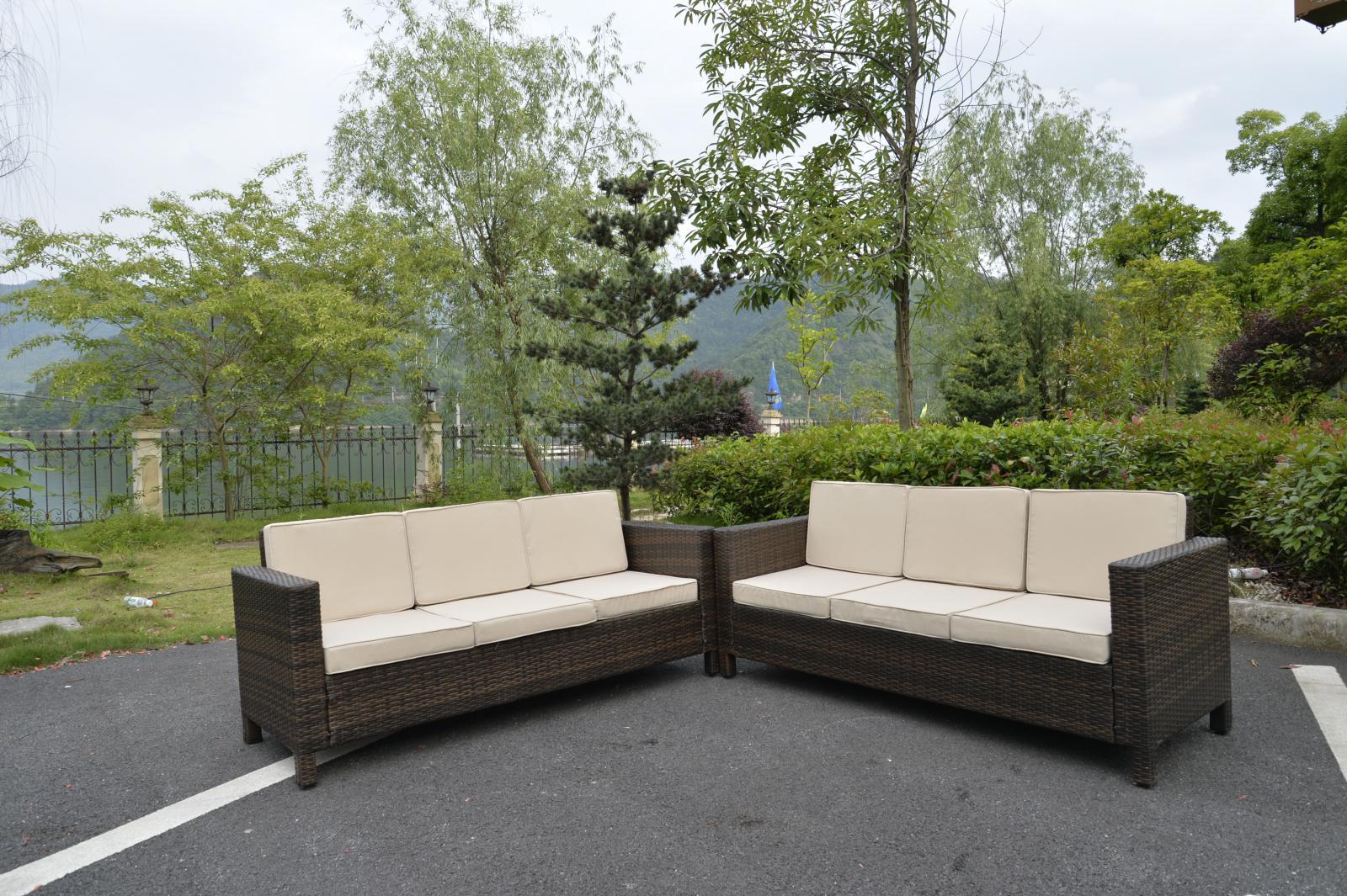 Rattan Garden Furniture Set Sofa Outdoor Conservatory Patio Wicker Table Corn