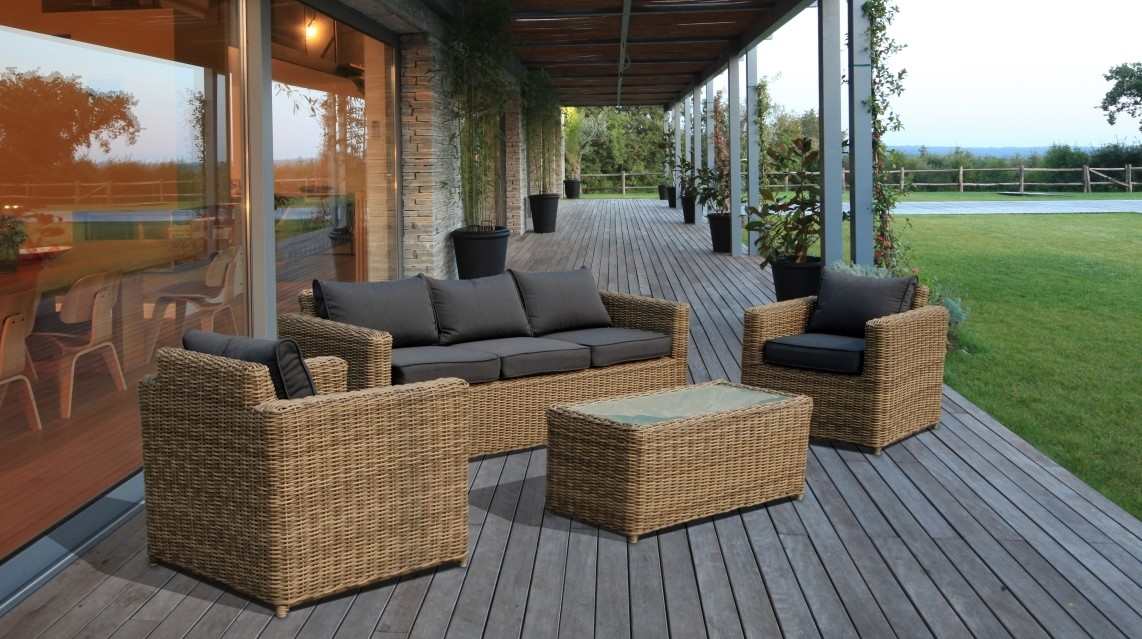 Luxury Rattan Garden Furniture Sofa Set Patio Conservatory Outdoor Wicker