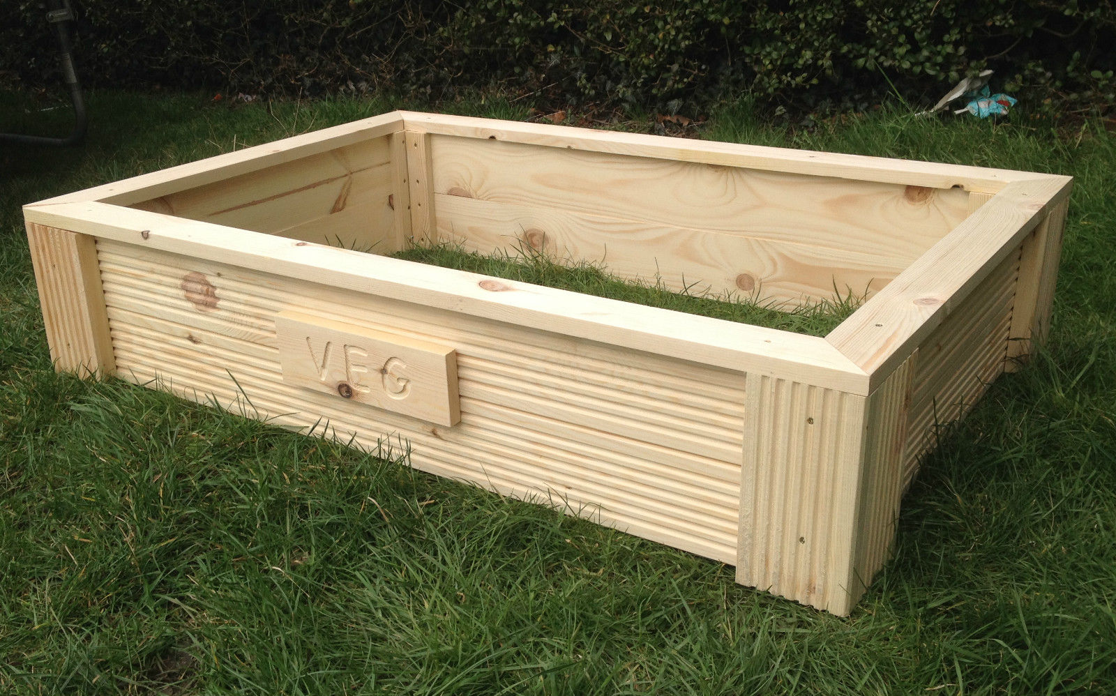 decking raised bed garden planter 1200x600x240mm 4ftx2ft