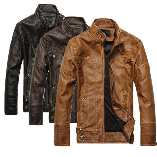 Leather (PU) Jacket for Men in Black Brown Tan Color Stylish ...