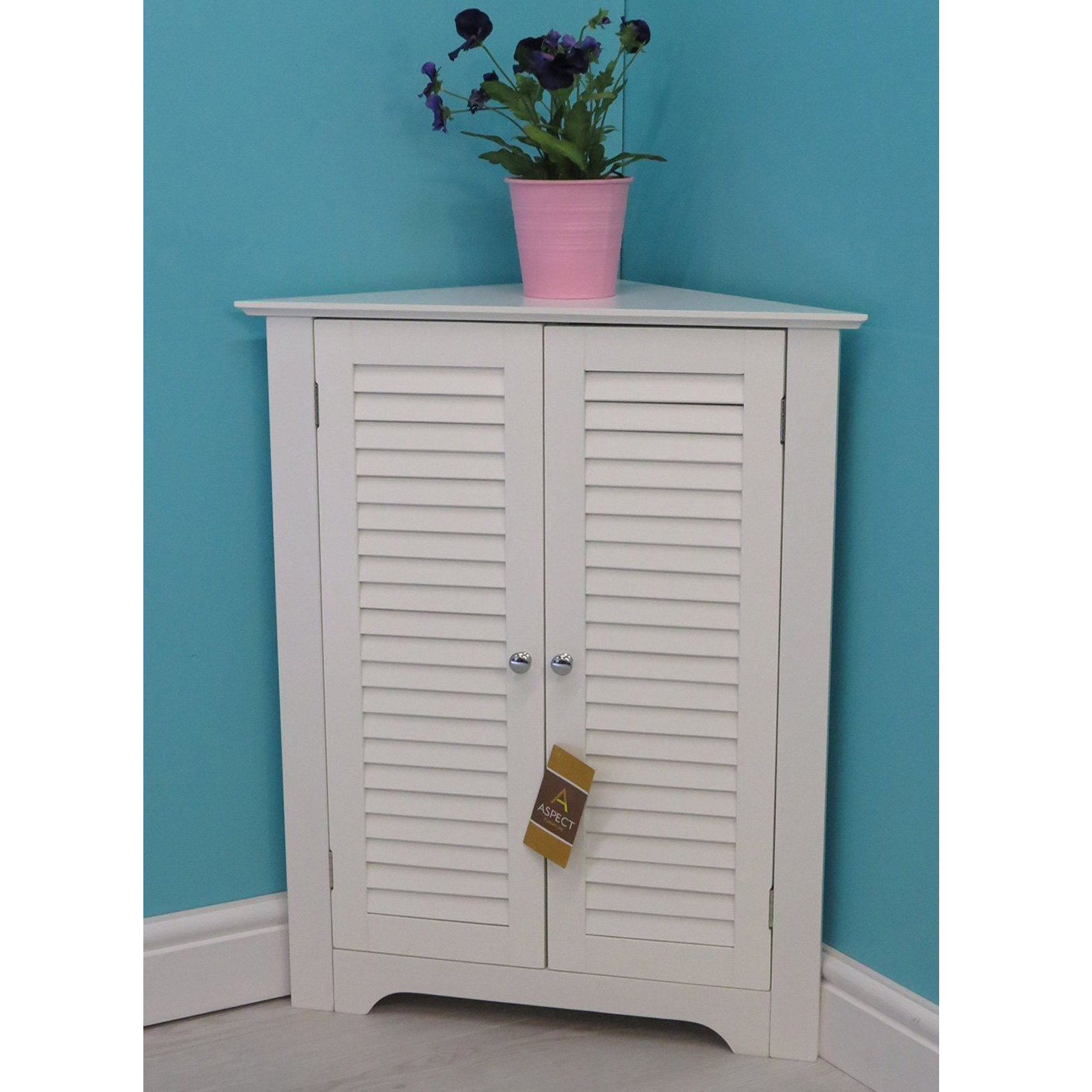 vintage bathroom corner cabinet wooden storage unit with shelves aspect white ebay. Black Bedroom Furniture Sets. Home Design Ideas