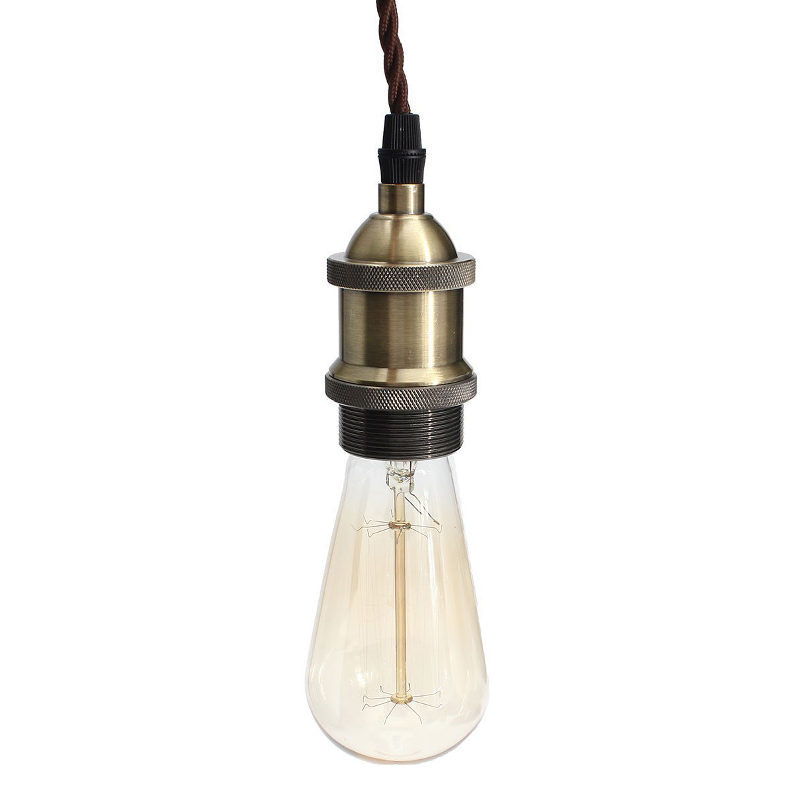 Vintage industrial light kit retro pendant ceiling lamp for Industrial lamp kit