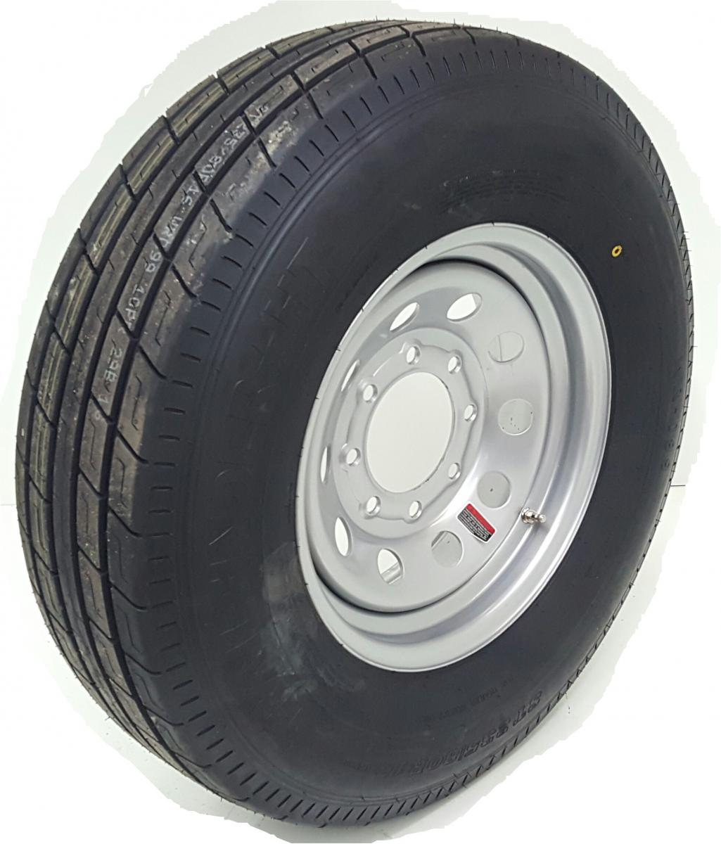 Trailer Axles With Wheels : Axle set ply tire wheels r k