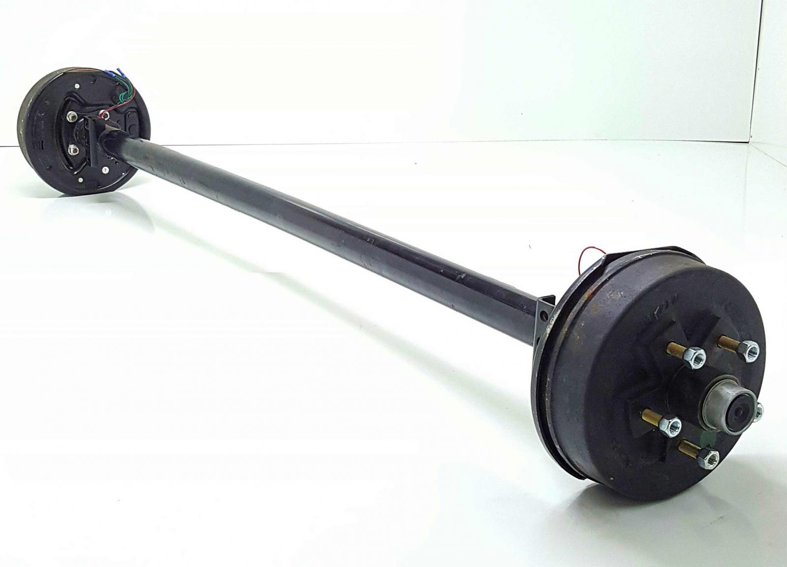 Trailer Axles With Wheels : Set k brake axles foot quot wide trailer