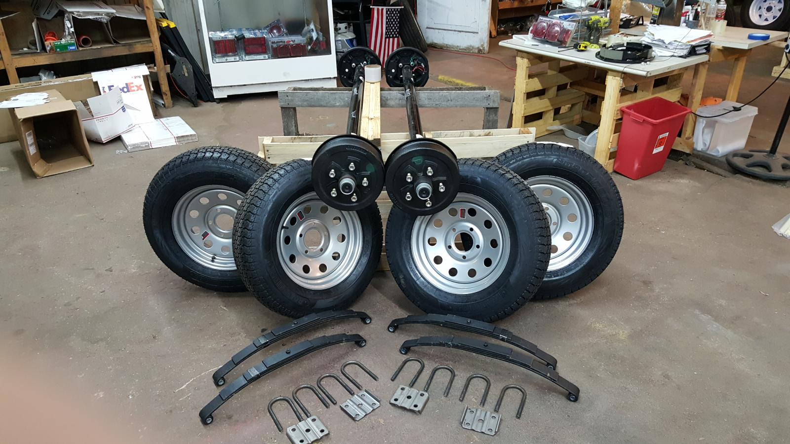 Trailer Axles With Wheels : Electric brake trailer axles quot st d