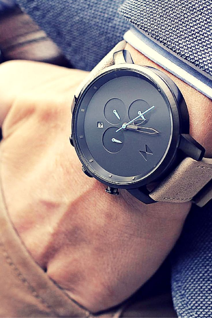 Mvmt watches chrono gun metal sandstone leather men 39 s watch chronograph original ebay for Metal watches