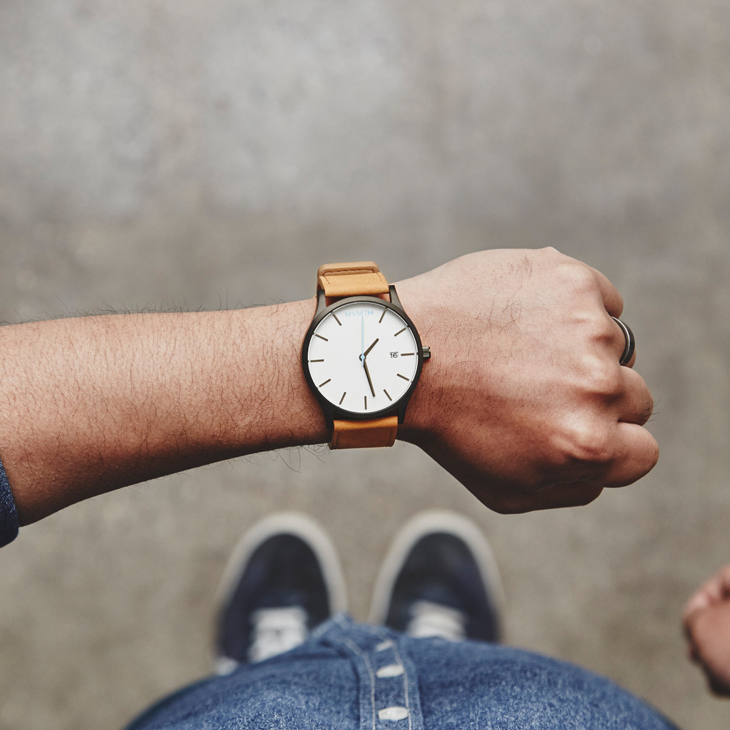 Watches mvmt for Black tan watch